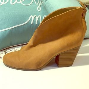 Suede Booties by A2 Heel Rest by Aerosoles